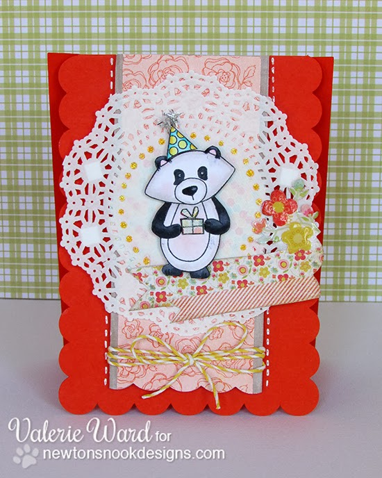Winston's Birthday Bear Card by Valerie Ward for Newton's Nook Designs
