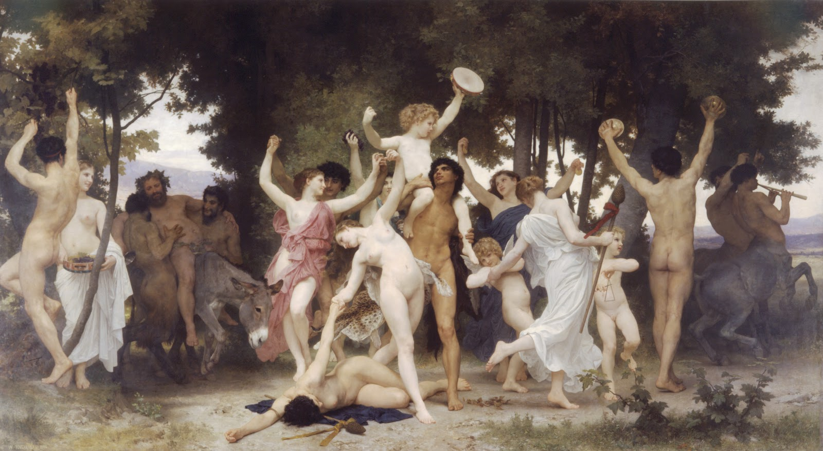 The Youth of Bacchus. 1884 Óleo sobre tela - 331 x 610 cm