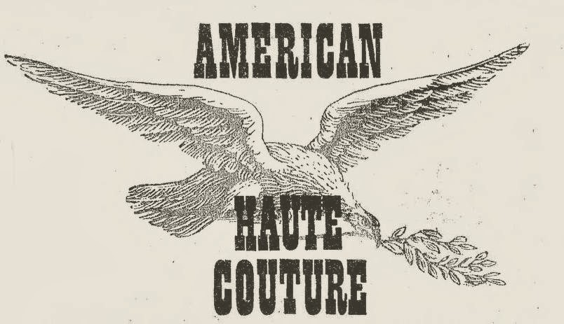 Couture allure vintage fashion frost bros advertises for American haute couture