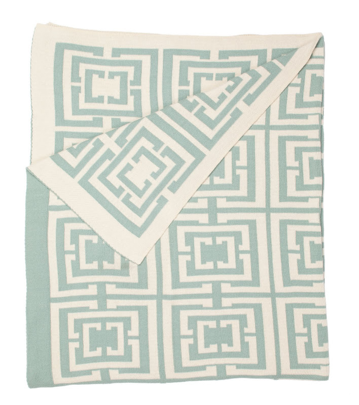 COCOCOZY Logo Throw in Light Blue