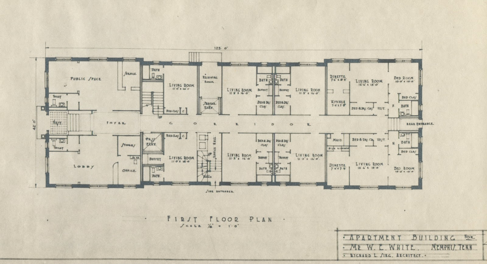 Apartment building plans 6 units images for Building plans images