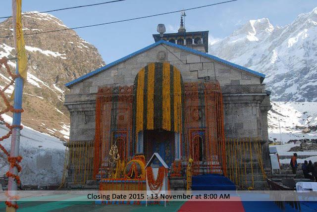 Kedarnath Temple During winter