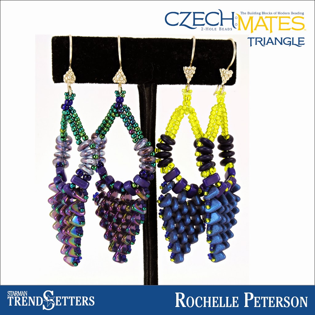 CzechMates Triangle earings by Starman TrendSetter Rochelle Peterson
