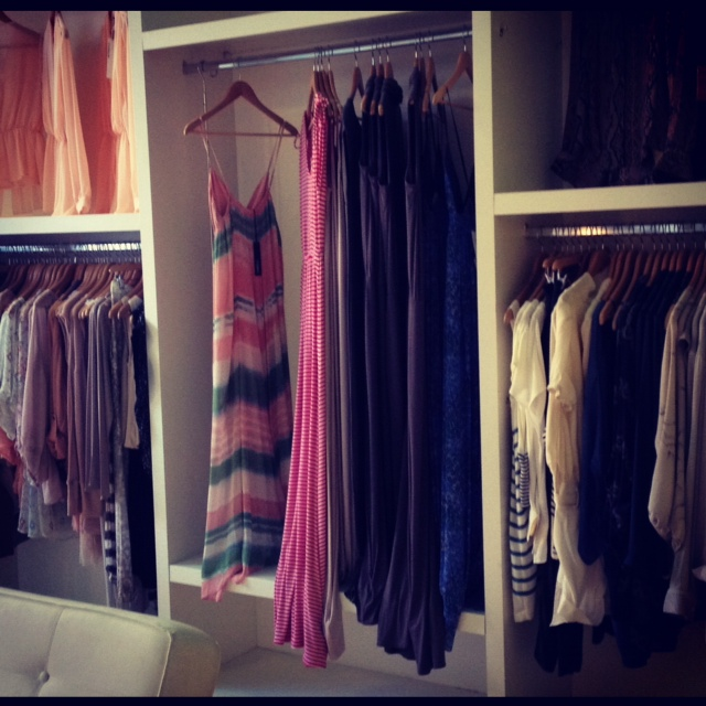 Clothing rack of Holly Boutique, inside holly boutique, holly product racks