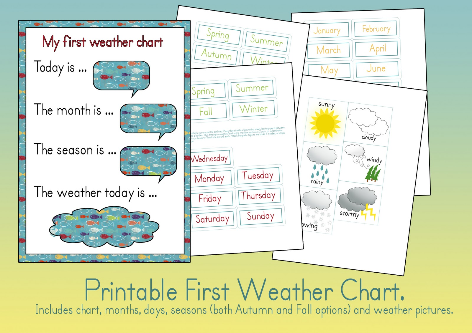Refreshing image for free printable weather chart