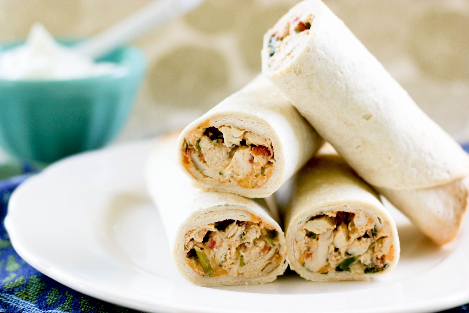 Baked Chicken Taquitos | Krissy's Creations