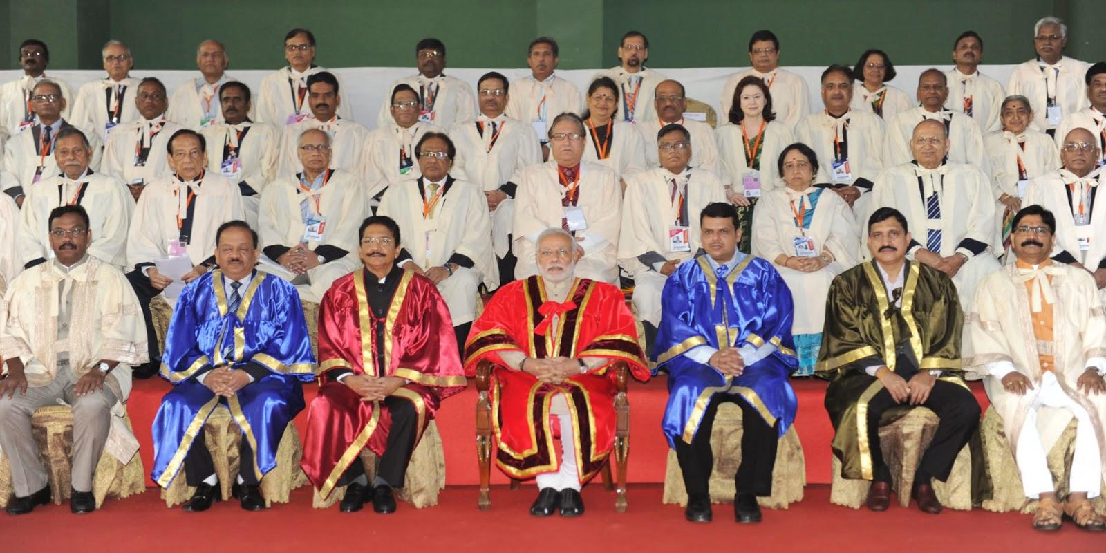 PM Narendra Modi at Indian Science Congress