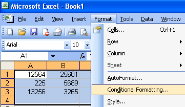 word 2010 conditional formatting