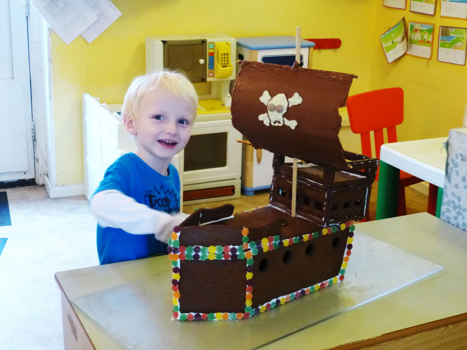 Siliconemoulds blog gingerbread pirate ship happy 4th a maxwellsz