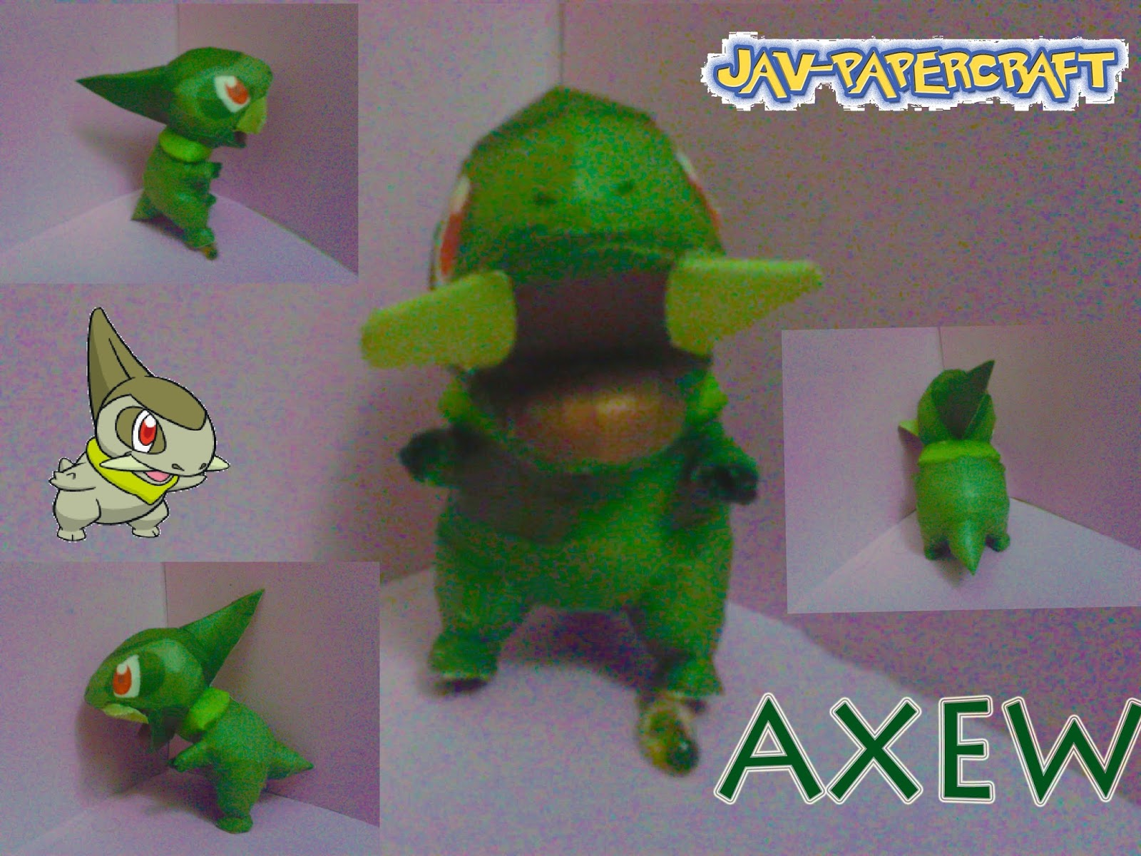 Pokemon Axew Papercraft