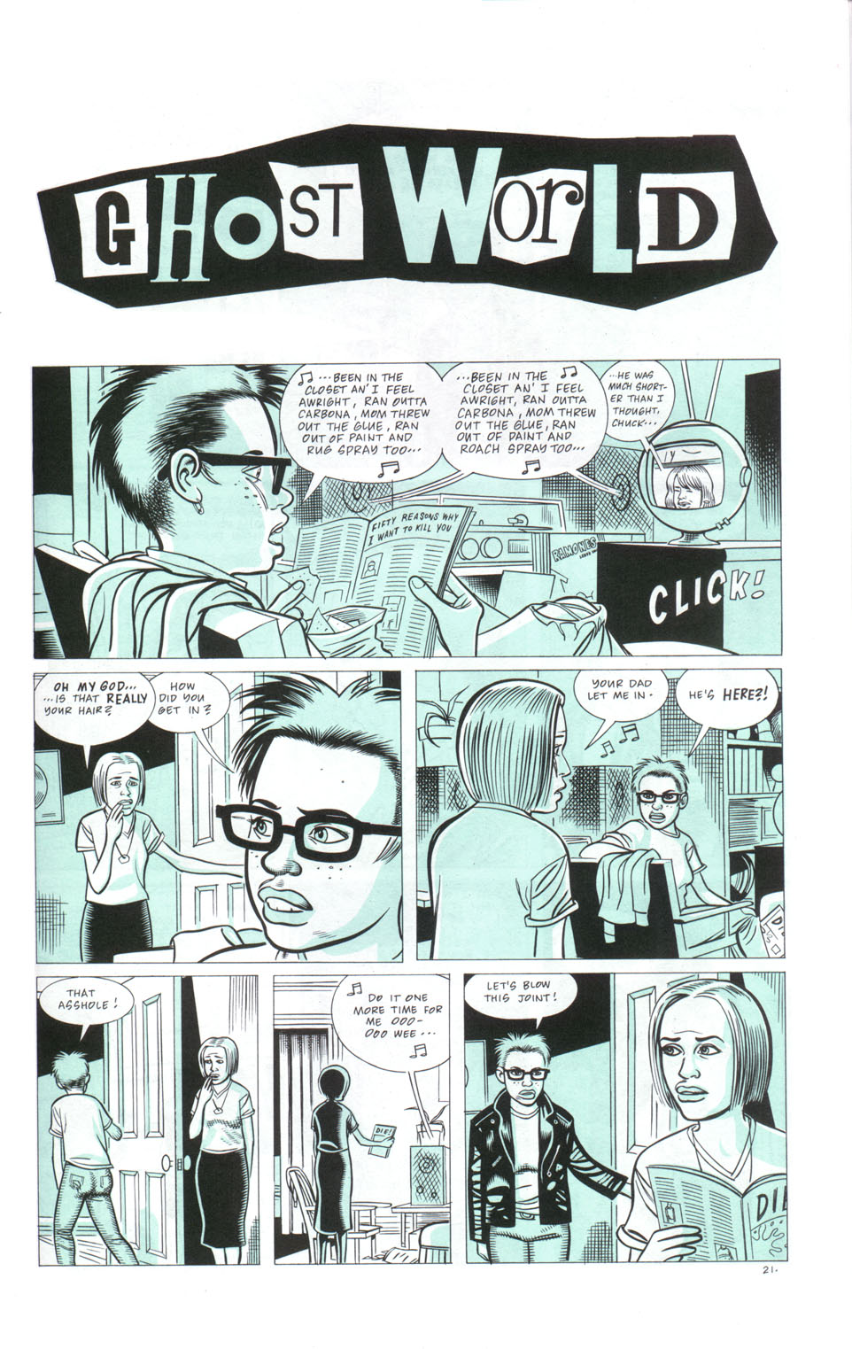 ghost world comic essay Thurschwell's essay will no doubt be of use to literary critics and comics scholars  who wish to discuss comics as literature, as she reads ghost world in relation.