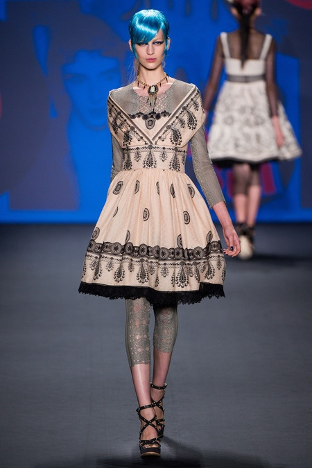 Victorian Punk on the runway for Spring