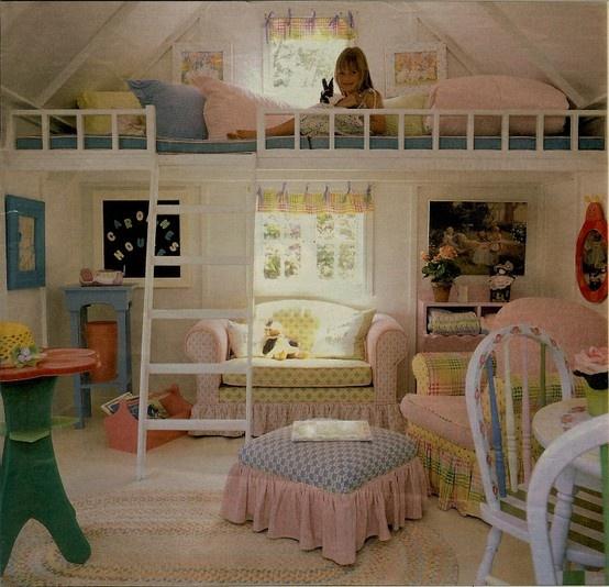 Little Girls Room Idea Loft Bed 554 x 534