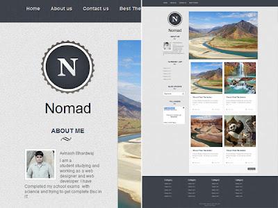 Download Nomad blogger template