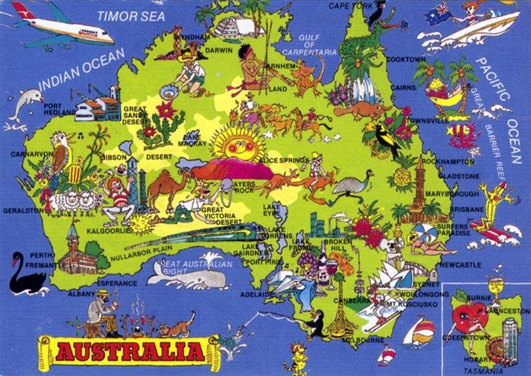 funny map of australia