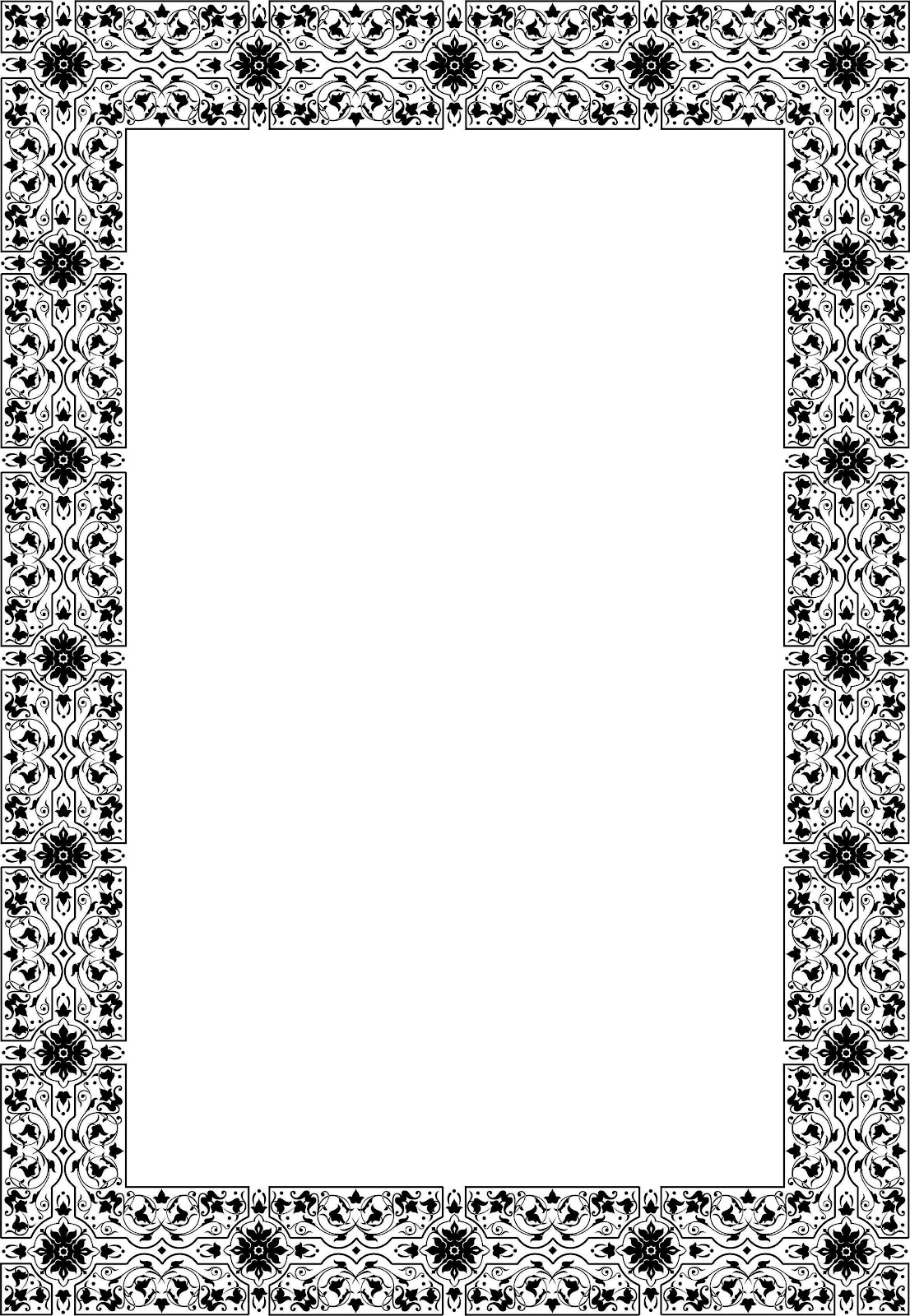 Bingkai / Border Piagam Vector (6)