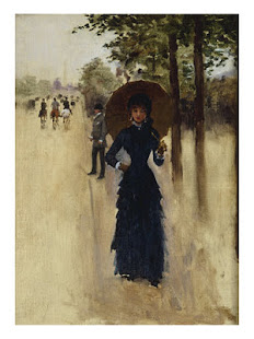 Jean Beraud pintó la Dama del Sena