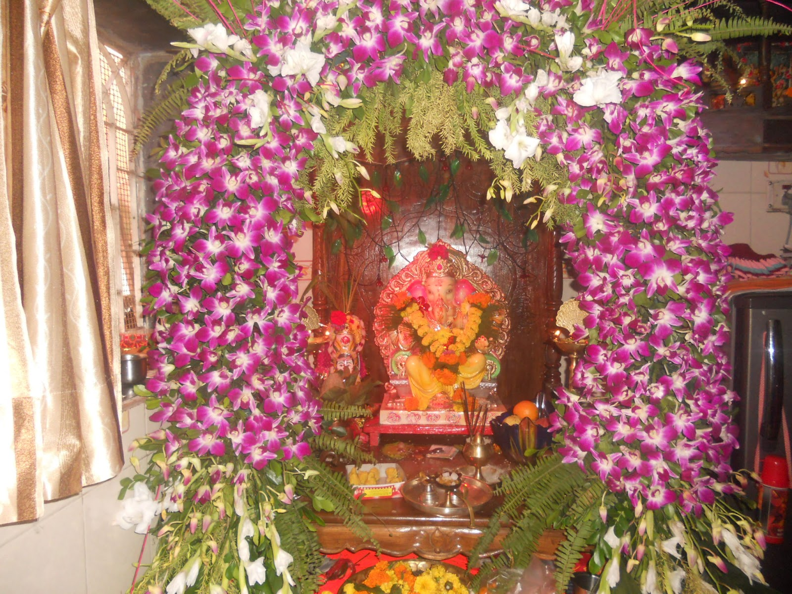 ganpati decoration ideas at home with flowers best decoration