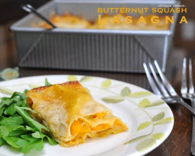 butternut squash lasagna ♥ recipe with