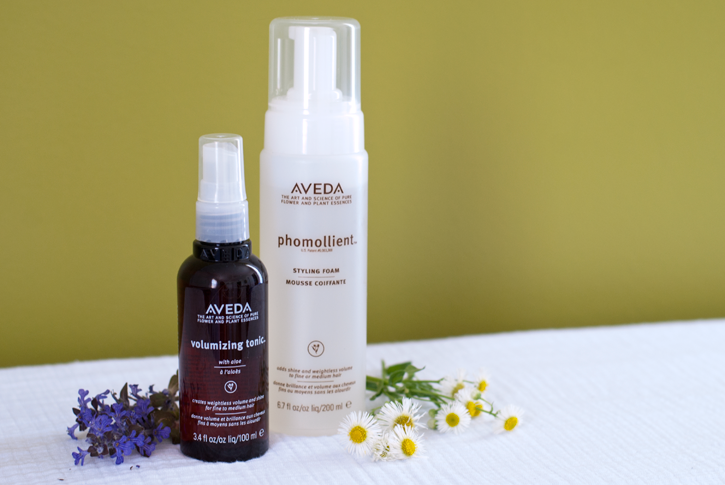 aveda products review - phomollient - volumizing tonic