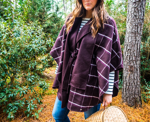 Tommy Hilfiger Plaid cape outfit