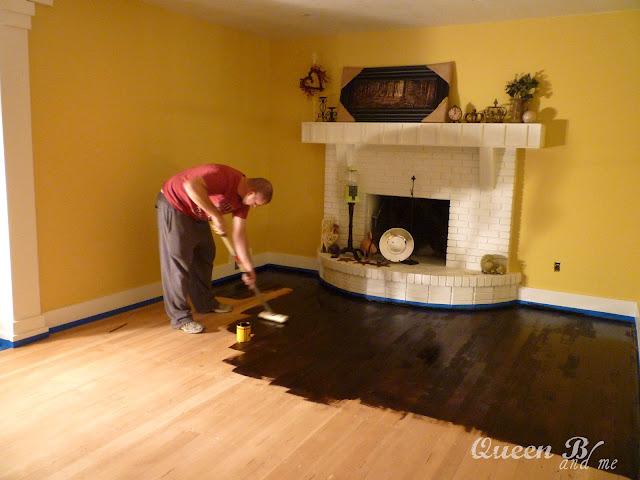 How to Refinish Hardwood Floors! They look so good!! Great tips!!
