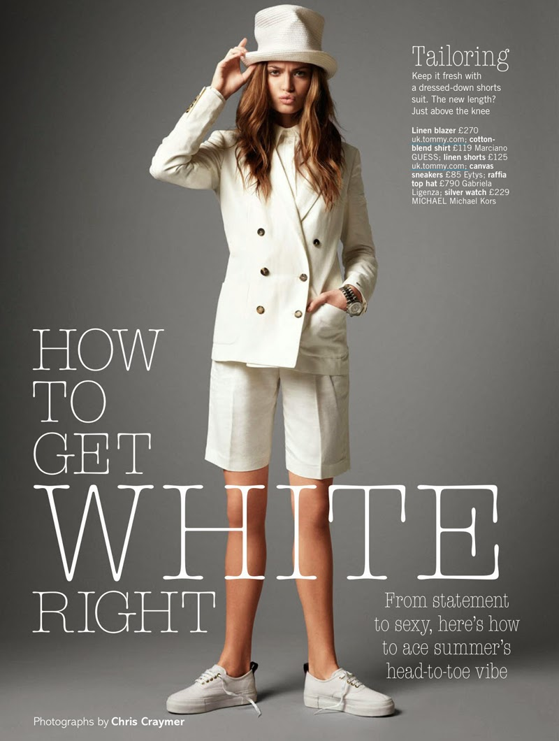 How To Get White Right: Frederikke Winther By Chris Craymer For Uk Glamour May 2014