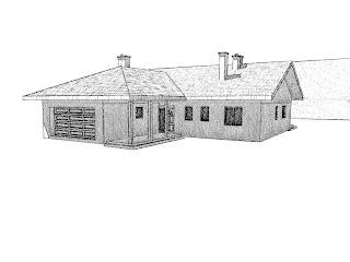 dom parterowy garaż senioratka