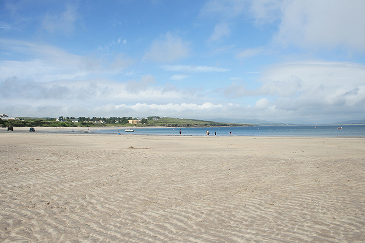 sandy beach in Ireland