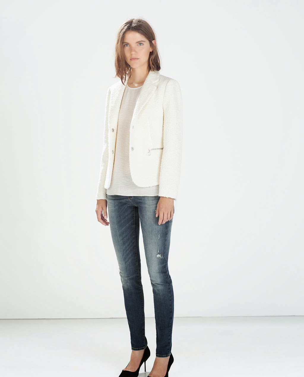 Good winter white jacket for anyone with psoriasis