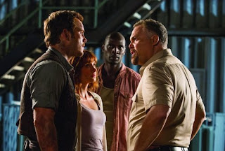Jurassic World - Vincent D'Onofrio, Bryce Dallas Howard, Chris Pratt and Omar Sy