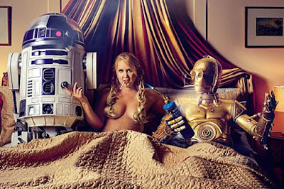 Any Schumer topless naked bed Star Wars funny C3PO R2D2