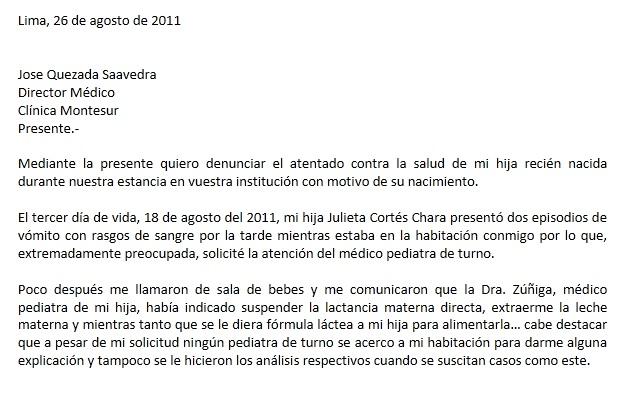DENUNCIA CLINICA PRIVADA EN PERU PERU ATENTAN CONTRA LA SALUD DE RECIEN NACIDO