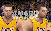 NBA2K12 LA Lakers Cyberface Patches Team Pack