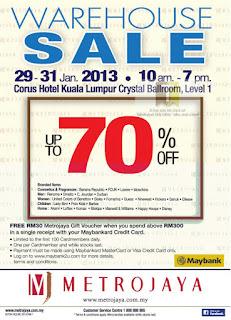 Metrojaya Warehouse Sale KL 2013