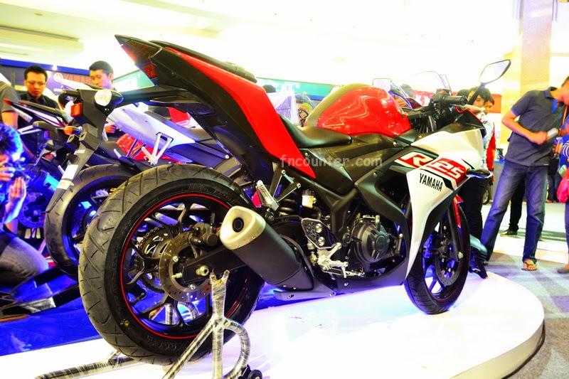 Buritan Yamaha YZF R25, sporty tenan