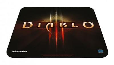 Dispositivos de jogos e acessórios no estilo de Diablo III.