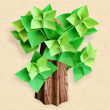 Projects Art And Craft Easy Origami Oak Tree
