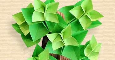 Origami Oak Tree Moving