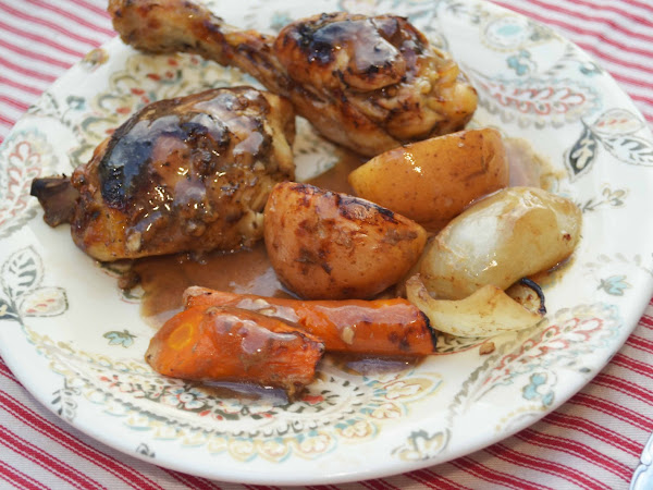 Crock Pot Roasted Chicken and Veggies