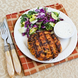 Grilled Fresh Salmon Burgers with Caper Mayonnaise | Kalyn ...