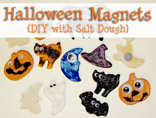 make your own magnets with salt dough