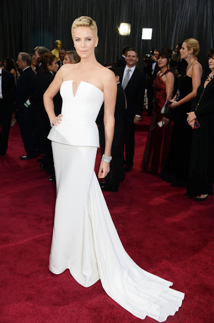 Oscar's best dressed is Charlize Theron wearing a Christian Dior dress.