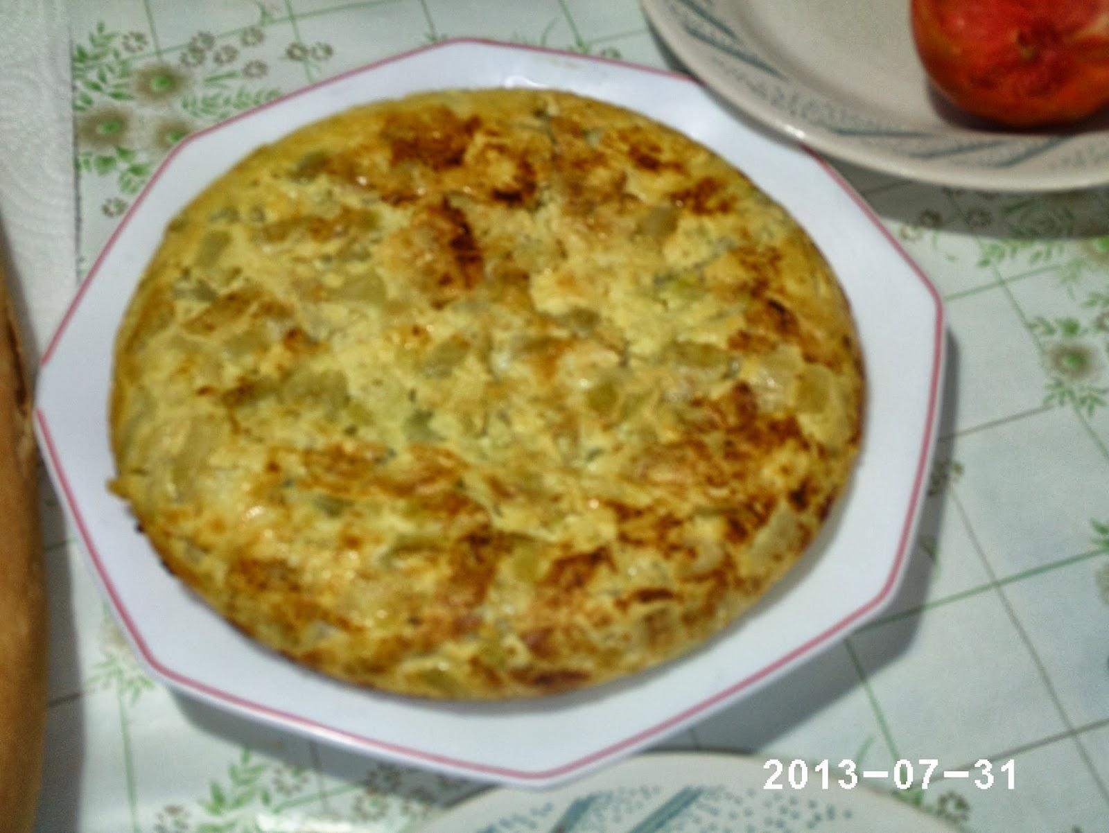 Recetas de mi pueblo y m s tortilla de calabac n patata - Tortilla de calabacin y cebolla ...