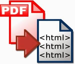 convert pdf to html code