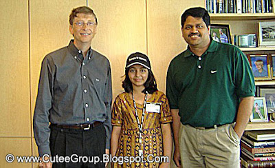 Arifa Karim's pictured with Microsoft founder Bill Gates (left) in 2006