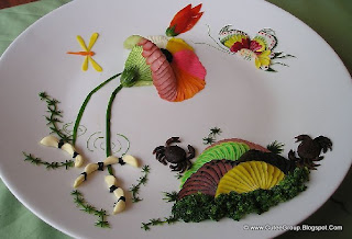 Food Art In The Plates
