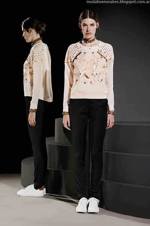 Sweaters de moda otoño invierno 2015 Jazmín Chebar.