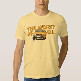 Austin Allegro huonoin kaikista 2. versio t-paita Zazzle