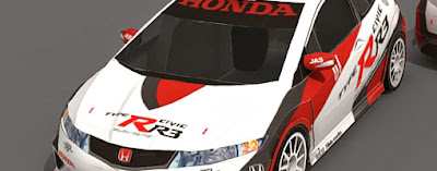 Honda Civic Type-R R3 Pepercraft Model Car